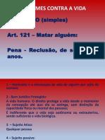 121 - DOS CRIMES CONTRA A Vida.pptx