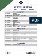 prod schedule