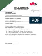 Kostenersatz Studienbeitrag WS2012 13
