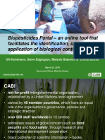 Biopesticides Portal – an online tool that facilitates the identification, sourcing and application of biological control products