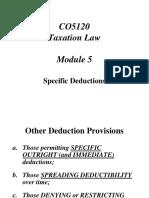 CO5120 Taxation Module 5