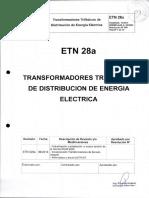 especificaciones transformadores