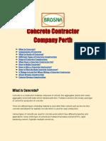 Concrete Contractor Company