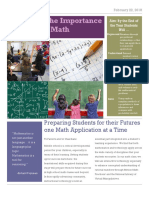 math technewsletter