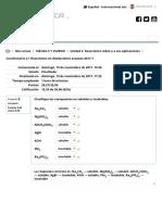 Cuestionario 2.1 Reacciones en Disolucciones Acuosas