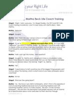 Martha on the Martha Beck Life Coach Training_Transcript