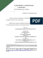 PEC 20 de 1995 - Eduardo Jorge. Versão formatada