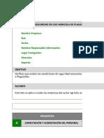 Copia de Pauta de Auto Evaluación de Condiciones de Seguridad Del Uso Plaguicidas Según Protocolo MINSAL
