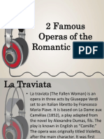 2 Famous Operas of the Romantic Period