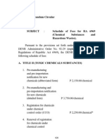 DAO 2000-12 – Schedule of Fees for RA 6969 (Chemical Substances and Hazardous Wastes)