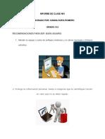 Informe de Clase n01 Ronero Danna 8-2