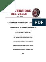 Informe de Lab de Amplificador Inversor y No Inversor