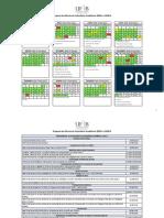 Proposta de Minuta de Calendário Acadêmico 2018.1 - 2018.2