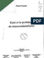 Gaudet Kant Et Le Probleme Du Transcendentalisme(39)