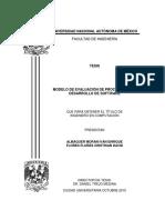 Tesis Modelo de Evaluación de Procesos en El Desarrollo de Sw