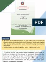 Repair and Retrofit Manual RCC Presentation
