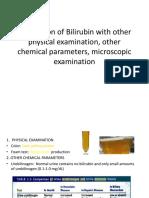 Correlation of Bilirubin With Other Physical Examination,