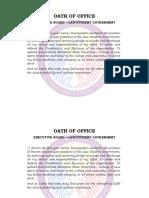 Oath of Office (Officers' Copy)