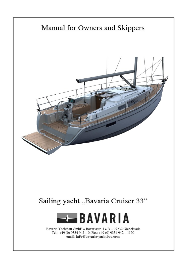 Bavaria Cruiser 33 Manual En Yacht Shipbuilding
