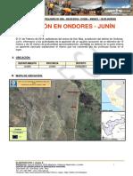 JUNIN - Junin - Ondores- Socavon (Reporte de Peligro)