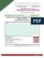 FORMULATION AND EVALUATION OF LEVITIRACETAM MATRIX TABLETS
