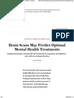 Brain Scans May Predict Optimal Mental Health Treatments - Scientific American