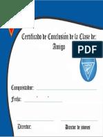 Certificado - Amigo