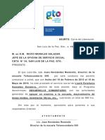 """(8)Carta de Liberaciã""""n"""