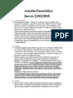 Adoración Eucarística 22-02-2018