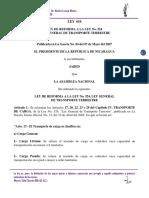 Ley 616 Ley de Reforma a La Ley No. 524, Ley General de Transporte Terrestre.