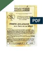 Revolución Socialista, N° 8, febrero de 1965. Primera Declaración de la Sierra de las Minas