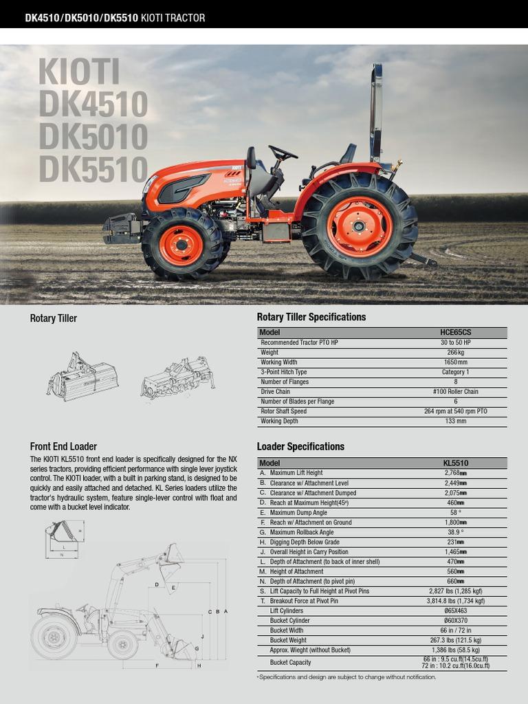 Kioti Eu Dk Catalog3 0309 | Tractor | Loader (Equipment)
