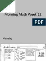 morning math week 12 12