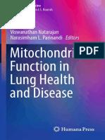Función Mitocondrial en La Salud y Enfermedad Pulmonar (Natarajan Et Al., 2014)