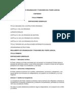 Reglamento de Organización y Funciones Del Poder Judicial