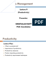OM- Lecture 9 (Productivity)
