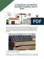 Guía Para Construir Tus Propios Paneles Solares Caseros