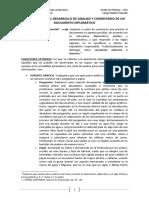 Esquema Para El Desarrollo de Análisis y Comentario de Un Documento Diplomático