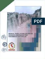 Manual de Evaluación de Riesgos Por Fenomenos Naturales