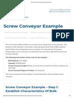 Screw Conveyor Example _ Engineering Guide
