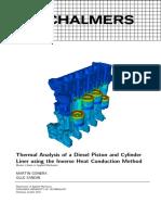 análise termal pistão diesel