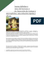 Grietas y Fisuras Debidas o Asentamientos Del Terreno y Cimentación