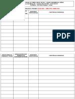 Tabela de Trabalhos e Provas Para Edição