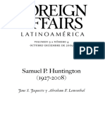 Foreign Affairs Samuel Huntington