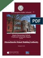 Easthampton School Building Committee Preferred Schematic Report MSBA