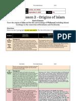 unit 1  lesson 2 - 7th grade - origins of islam -  malia