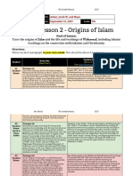 1  lesson 2 - 7th grade - origins of islam-weiner thomas segal