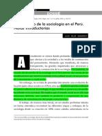 Evolución Histórica de La Sociología en El Perú Julio Mejia