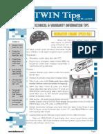 Consejos TWIN. Información Técnica y Sobre La Garantía Consejos Configuración Del Motor de Ralentí de Velocidad