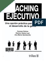 1- DUHNE, CARMEN ET AL - Coaching Ejecutivo - Edit. Trillas